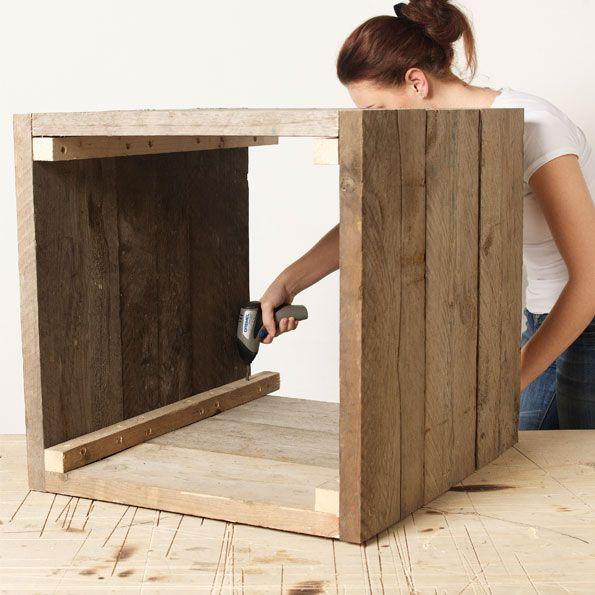 Bricolage cr er un bac fleurs en bois garden pool - Fabriquer une jardiniere en bois de palette ...