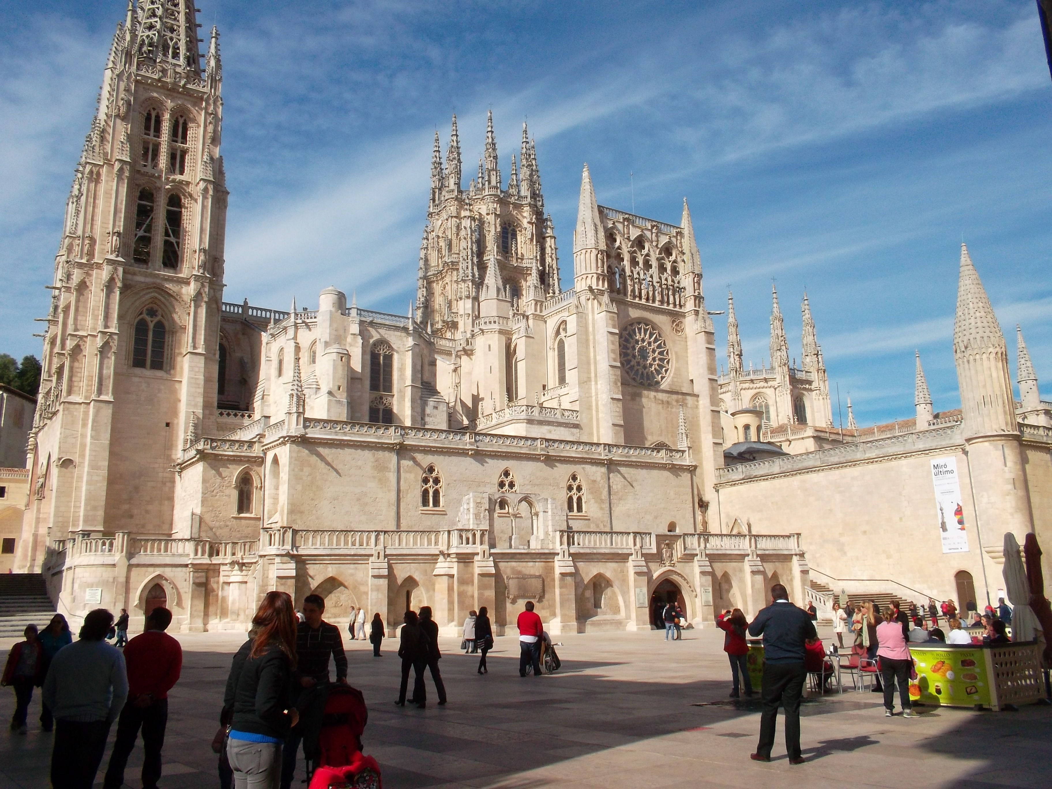 1st stage of journey complete, nice to end at a cathedral, Burgos.