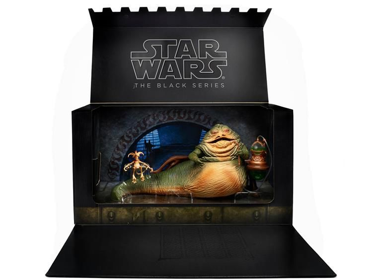 """SDCC 2014 Exclusive Star Wars Black 6"""" Jabba The Hutt Deluxe - Star Wars 2013-2014 Star Wars Star Wars Black 6"""" 2014"""