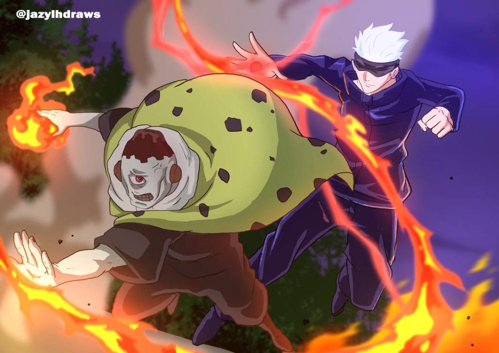 Jujutsu Kaisen Gojo Vs Jogo By Jazylh On Deviantart In 2021 Jujutsu Anime Art