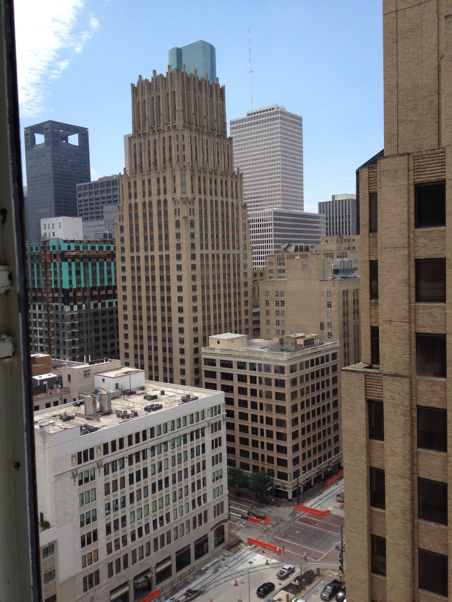 View from the Magnolia hotel Houston. August 2013. Honeymoon