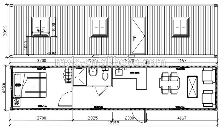 Superbe One Bedroom, One Bath Shipping Container Home Floor Plan Shipping Container  40u0027 Long Simple Perfect | Container Homes Tiny Houses | Pinterest | Bath,  ...