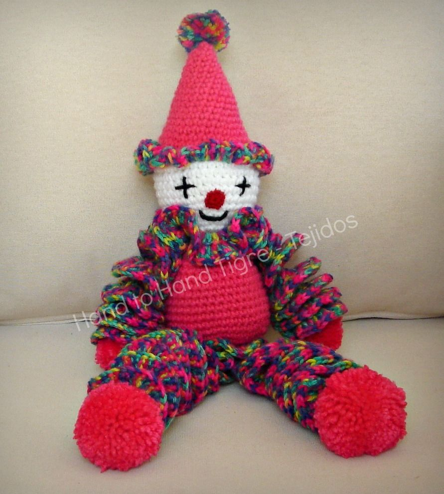 Crochet clown by Hand to Hand Tigre - Tejidos | Muñecos 2 ...