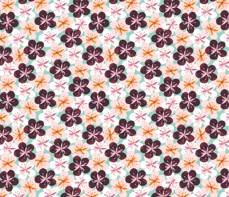 Cheery Cherry Blossoms fabric by nadiahassan on Spoonflower - custom fabric #Spoonflowerwrapper