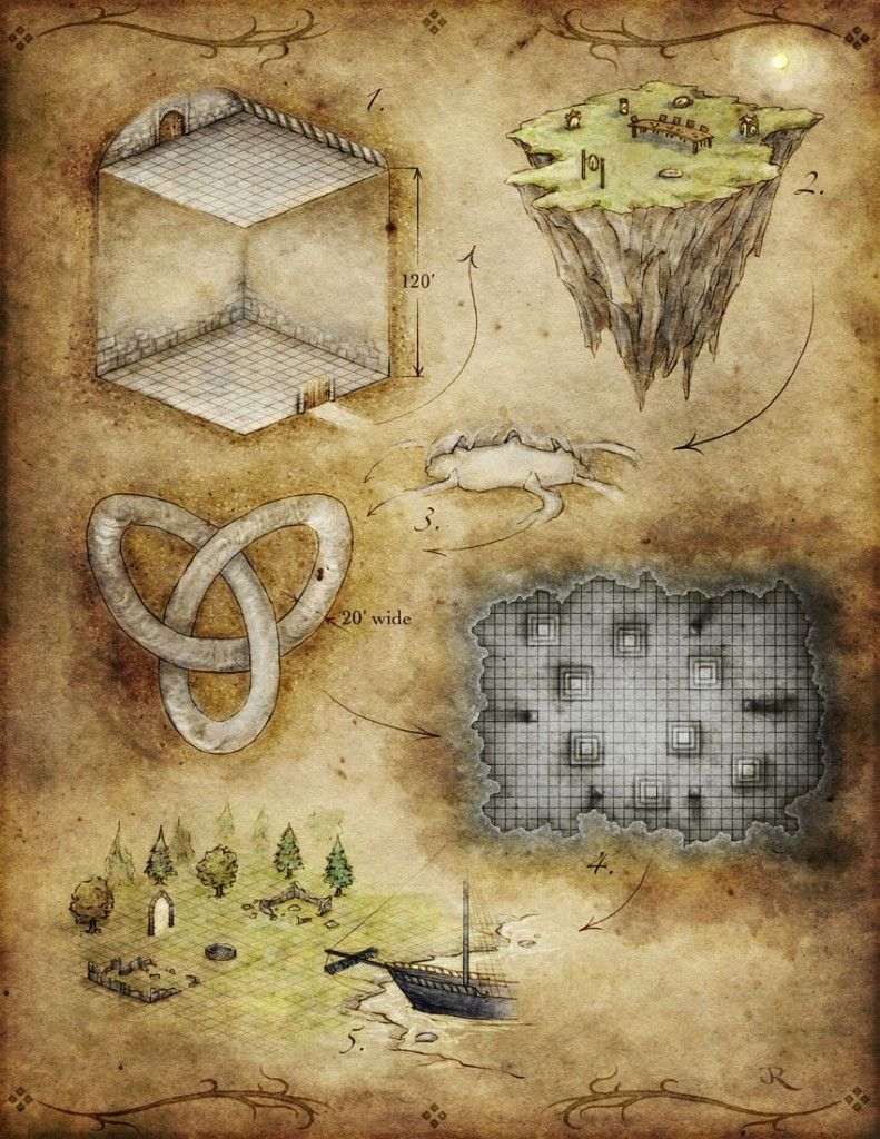 5 Room Dungeon Fantastic Maps Map Fantasy Map Dungeon Maps