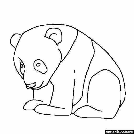 Simple Printable Baby Panda Coloring Pages Animal Coloring Pages Panda Coloring Pages Coloring Pages