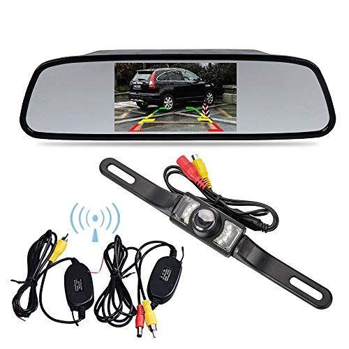 "Car Wireless Backup Rear View Camera Parking Reverse Kit 7/"" LCD Monitor//Mirror"