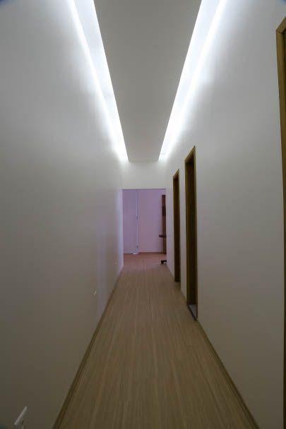 iluminação indireta- corredor