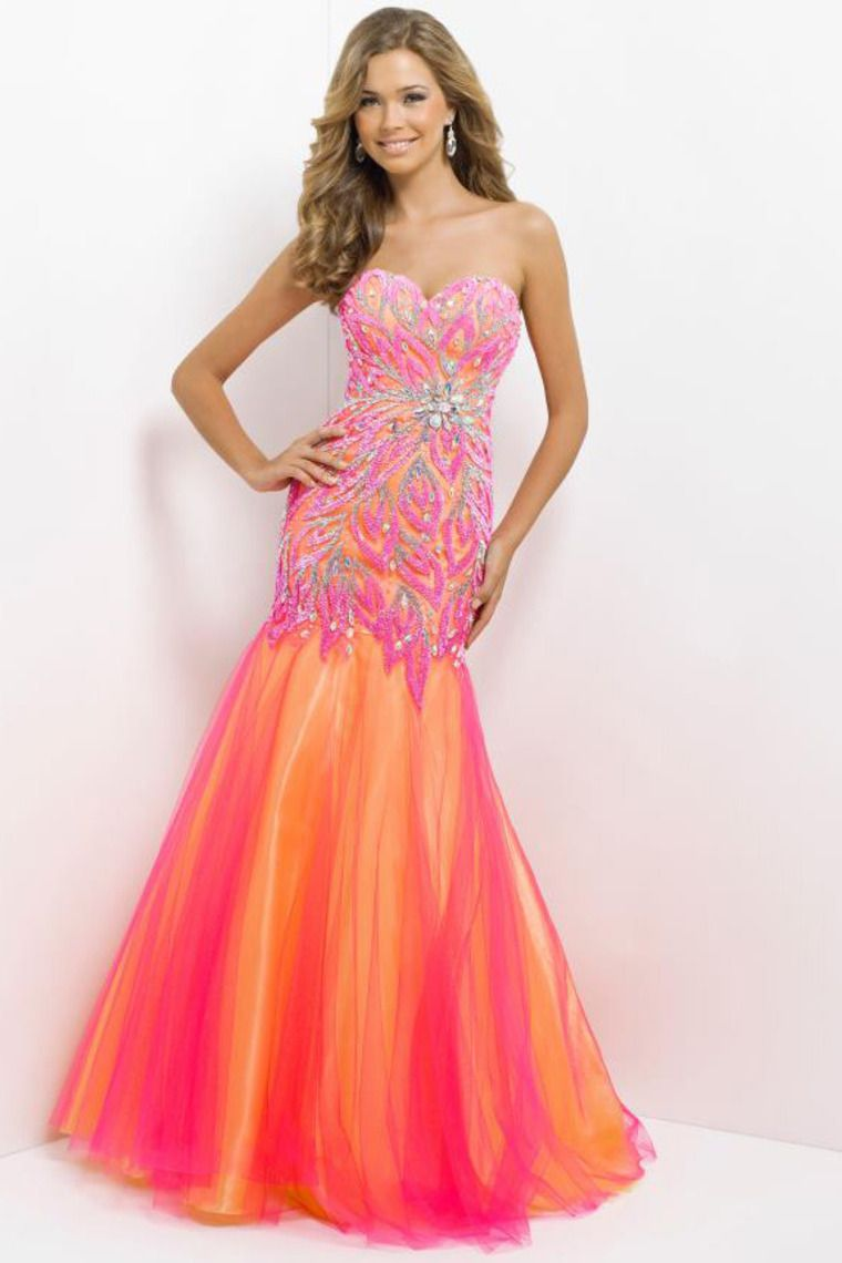 New Style Prom Dress Floor Length Mermaid/Trumpet Very Beautiful ...