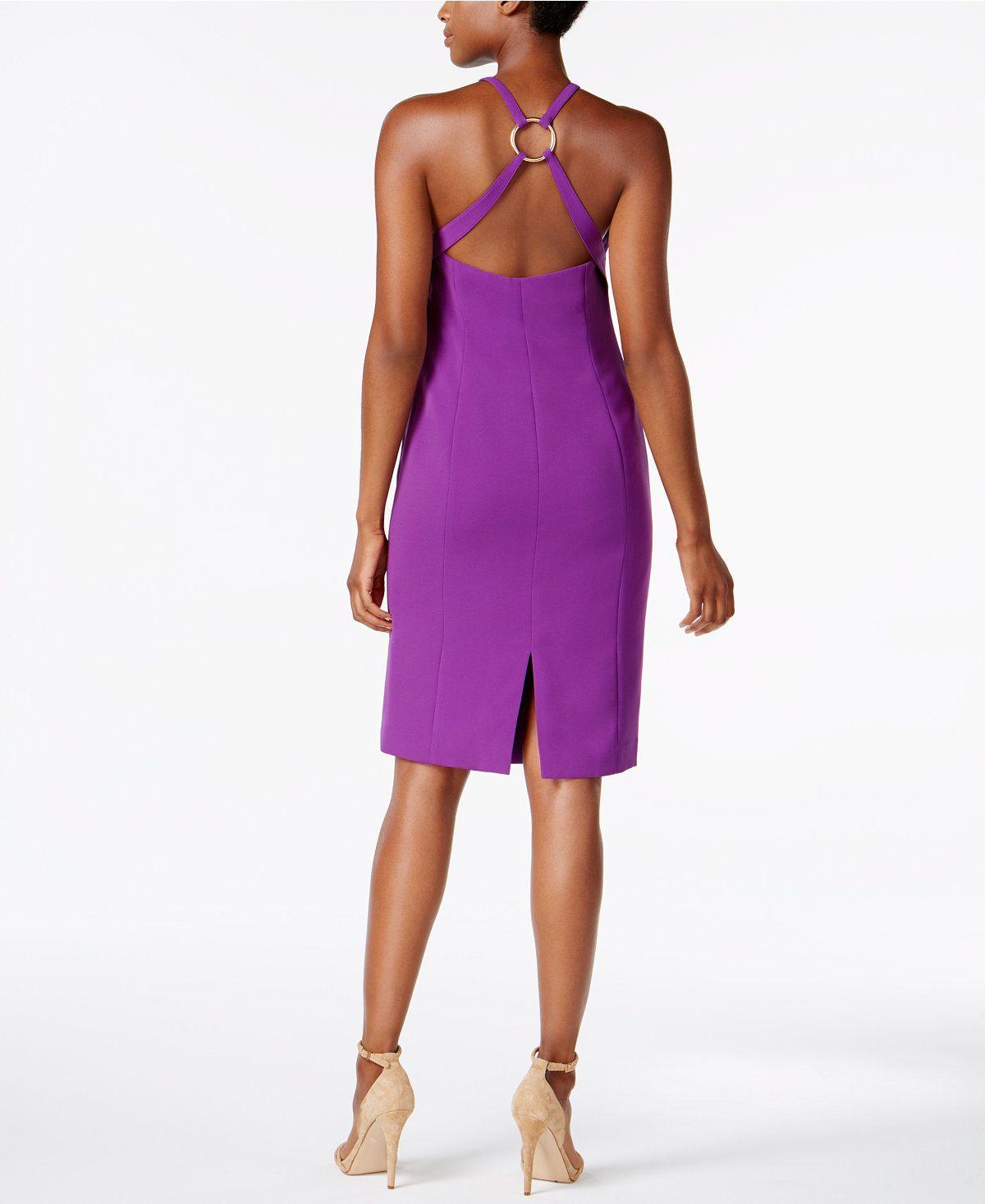 bb4ea0d3494 Calvin Klein Open-Back Crepe Dress - Calvin Klein Dresses - Women - Macy s