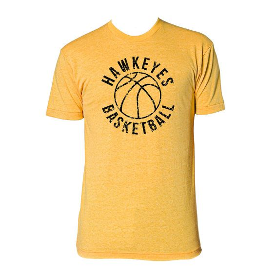 f1bc56ada49 Iowa Retro Basketball Tee Heather Gold by UndergroundShirts
