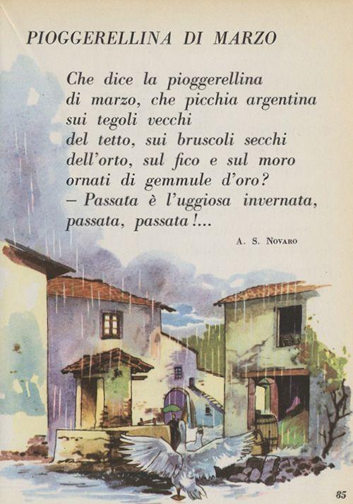 Testo della poesia pioggerellina di marzo di angiolo silvio novaro versi iniziali che dice la - Testo i giardini di marzo ...