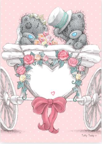 ванильного тедди свадьба картинка бляшечном
