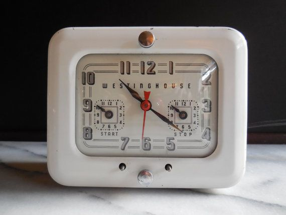 Mid Century Westinghouse Clock Appliance Timer By Used2bnewvintage