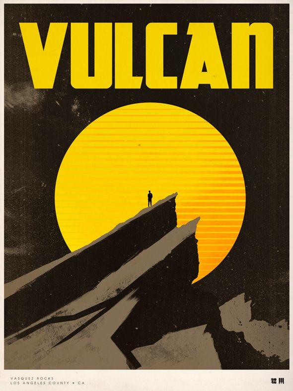 Star Trek vintage travel movie poster by Justin Van Genderen