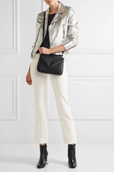 14ff9eea9e14 Saint Laurent | College medium quilted leather shoulder bag |  NET-A-PORTER.COM