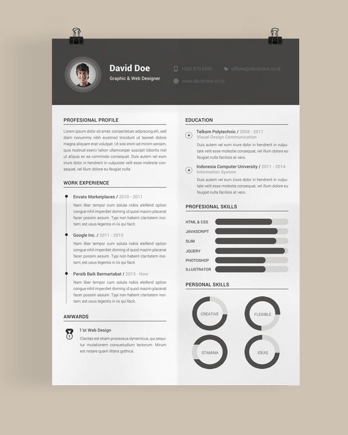 30 Free & Beautiful Resume Templates To Download | Cv | Pinterest