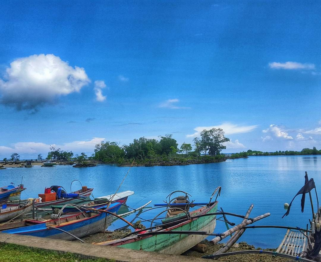Simeulue Aceh Indonesia Samsungs6 Labuhan Sailboat Fisherman
