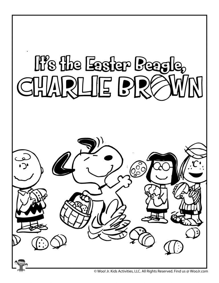 Charlie Brown Peanuts Gang Easter Coloring Page Woo Jr Kids Activities Easter Coloring Pages Easter Colouring Charlie Brown
