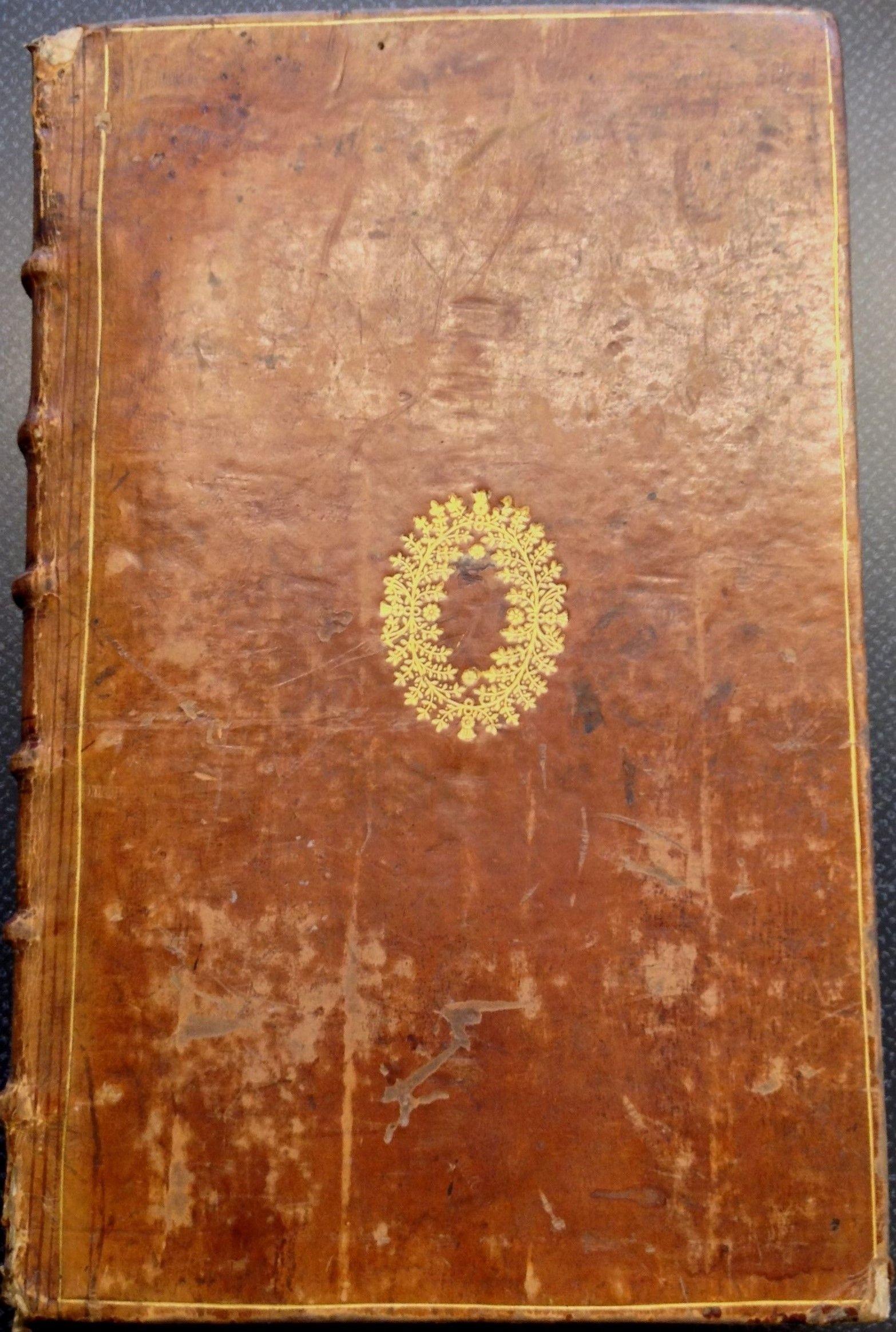Trois livres du domaine de la Couronne de France (1613) in brown calf with gold ornaments