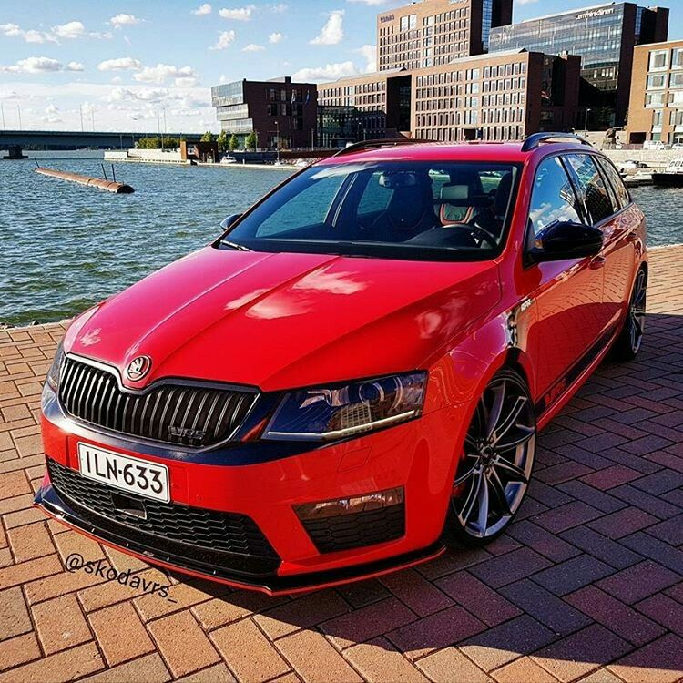red octavia iii with mods | skoda | cars, motorcycles, wagon cars, cars