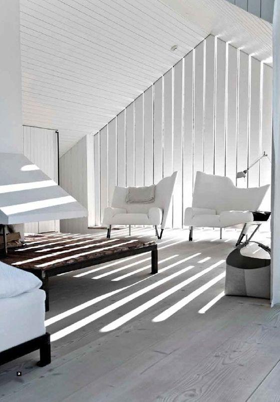 Having slits in your attic wall provide natural lighting interior