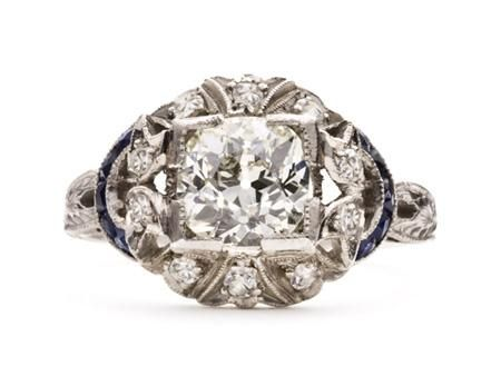 Dale Fournier - Antique and sapphire Engagement Rings