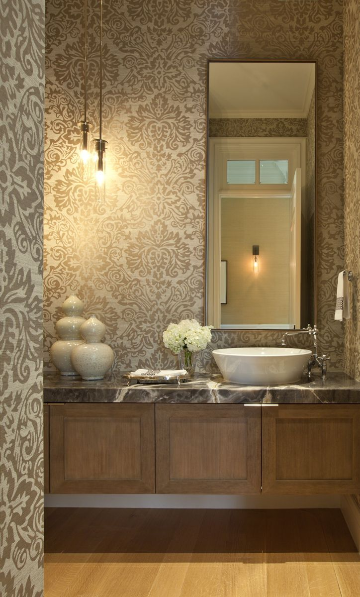 30 Small Powder Rooms That Go Big On Design   Pinterest   Taupe ...