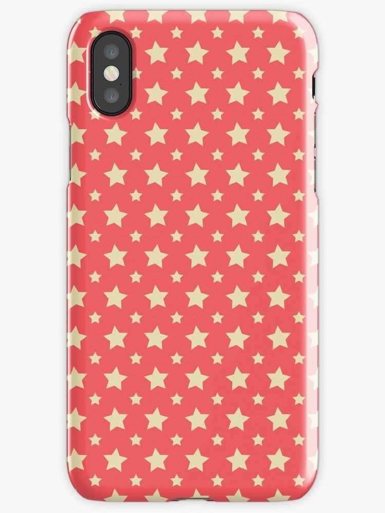 6e638984d6 Stars Pattern Red' iPhone Case by vanessavolk | phone cases | Phone ...