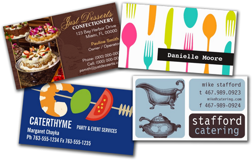 Shop Business Cards Food Catering Business Cards Catering Business Cards Catering Business Catering