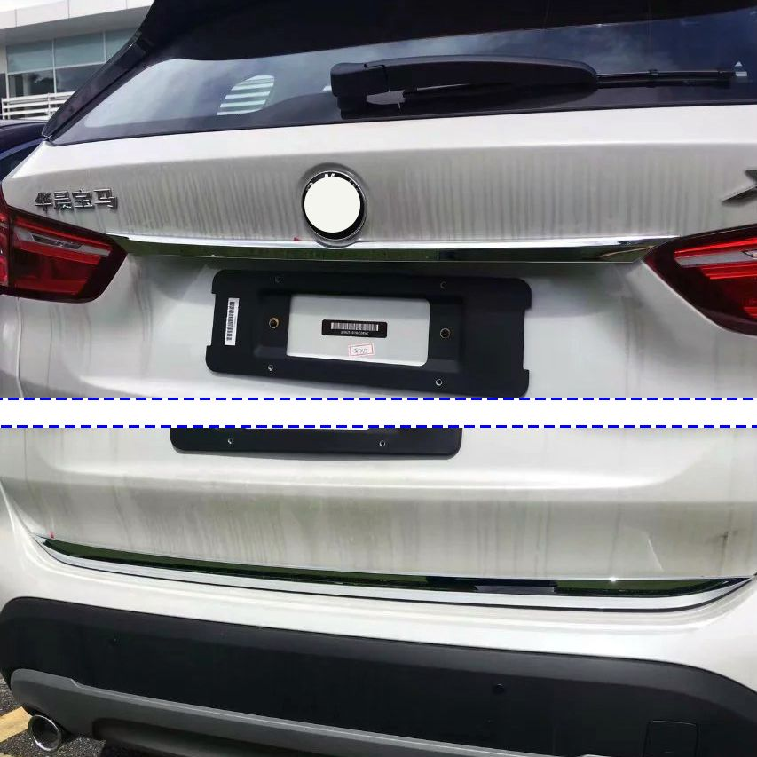2pcs ABS Chrome Rear Trunk Lid Cover Trim Molding Garnish Accessories For 2016 2017 BMW X1