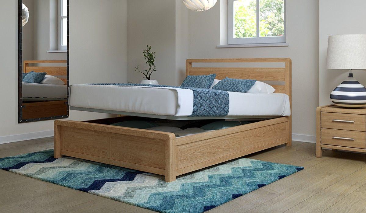 Hip Hop Bedstead 135cm * Lift Up Bed * Ash Bed, Wooden