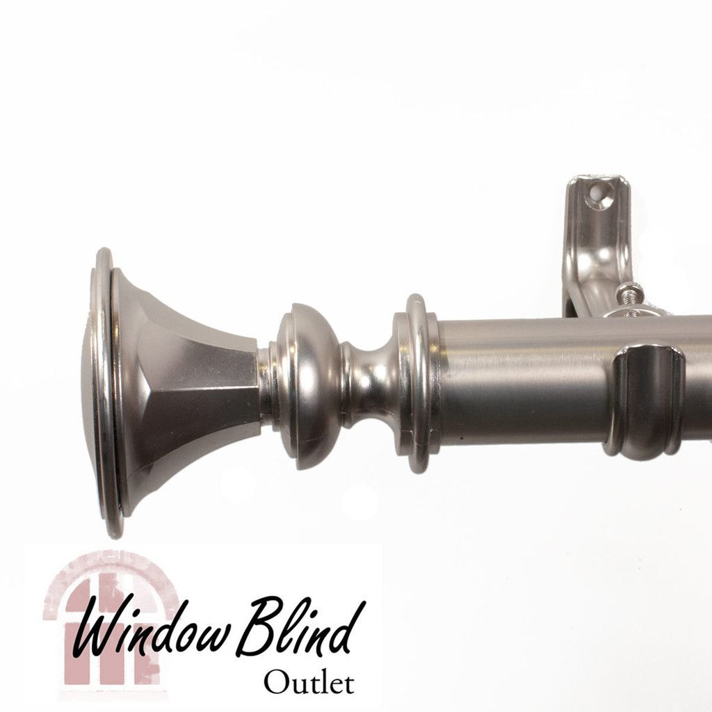 Royal Velvet Dover Curtain Rod In Satin Nickel Finish Drapery