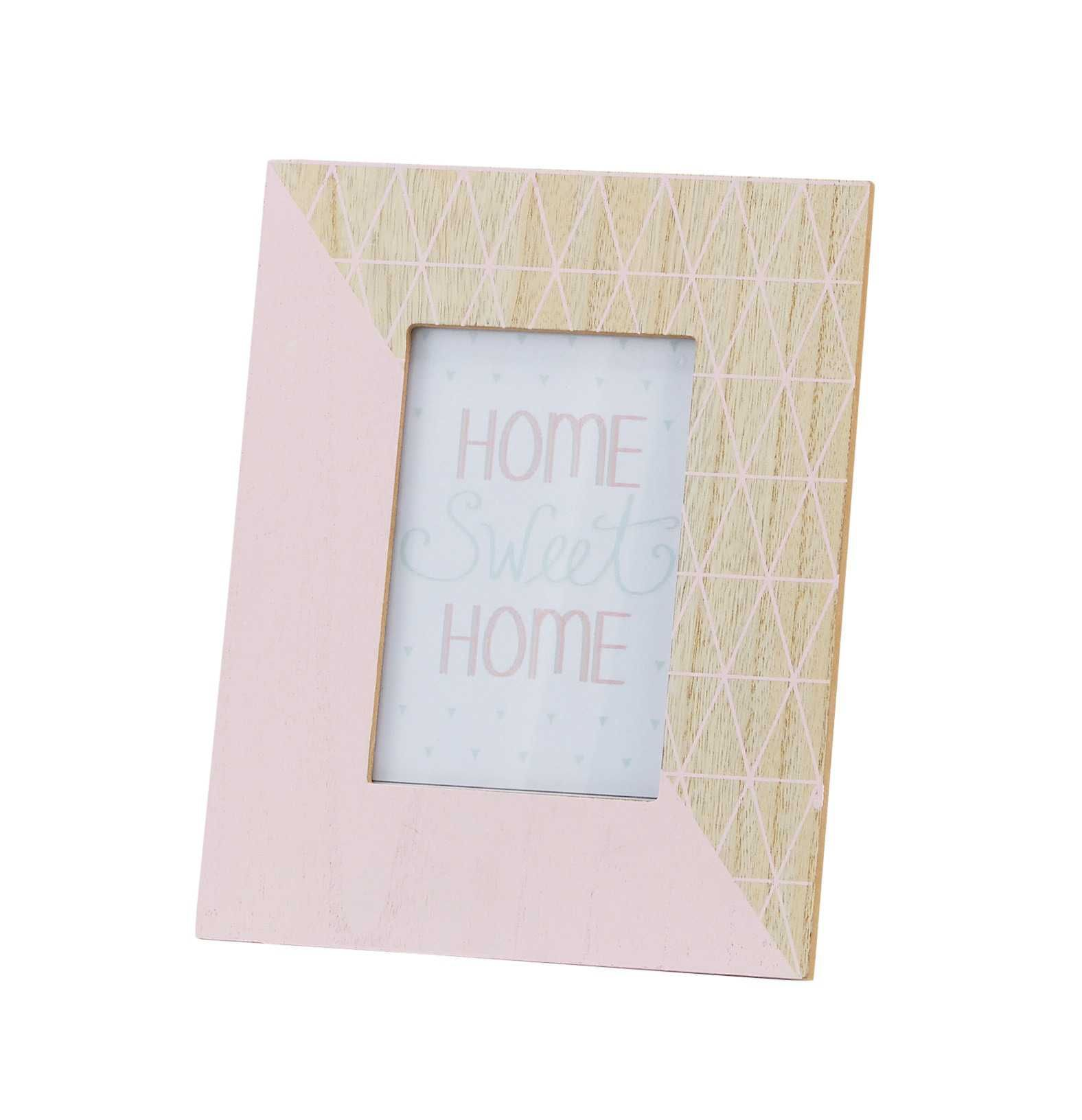Maya Graphic Pink Photo Frame 19 X 23 Cm Pink Photo Photo Frame Frame