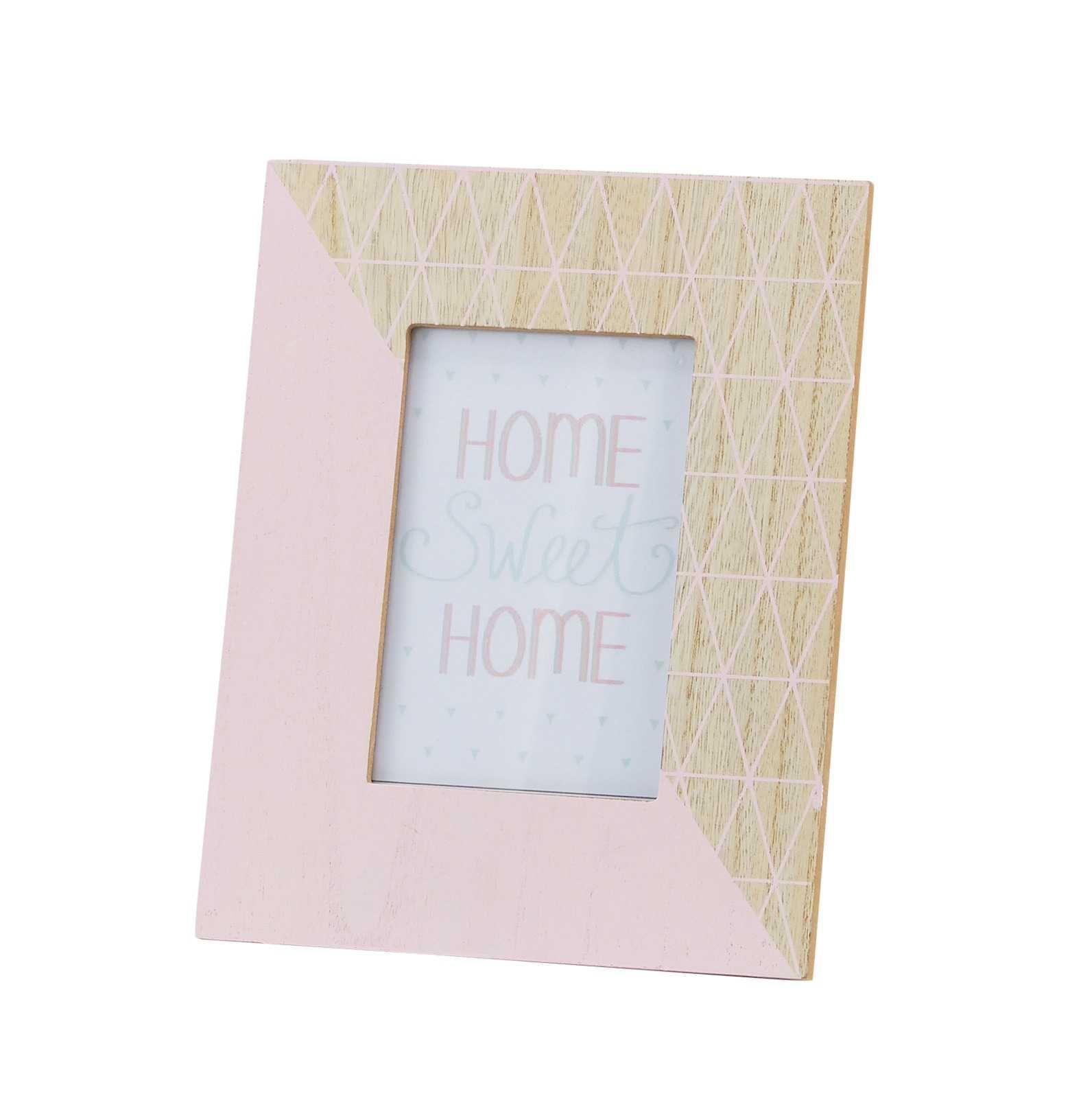 Maya Graphic Pink Photo Frame 19 X 23 Cm Pink Photo Photo Frame Frame