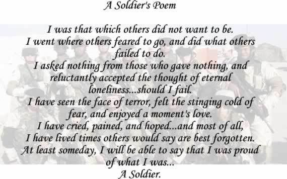 Quotes To Honor Fallen Soldiers | Bravery Poem by Clauspeter ...