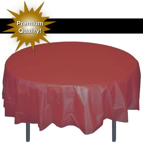 Round Burgundy Table Cover Plastic Table Covers Table Covers Round Table Covers