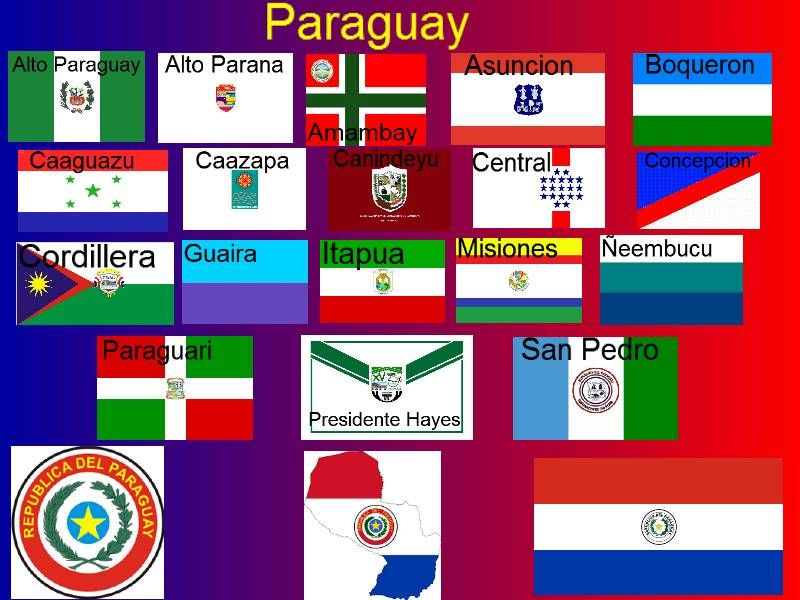Paraguay Departamentos With Images Flags Of The World Historical Flags Flag