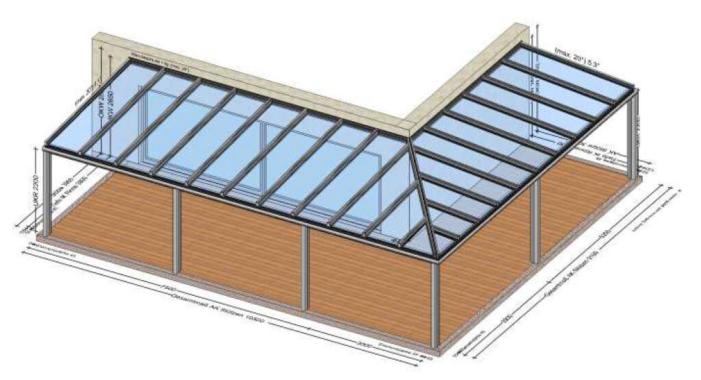 Terrassenüberdachung über Eck Aus Aluminium In 2020
