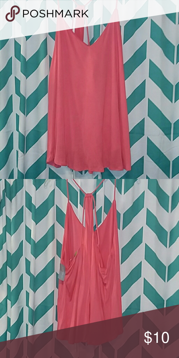 e4d60e91293 Plus size tank~NWT 3X color is coral Would look great under blazer or  alone. Super cute