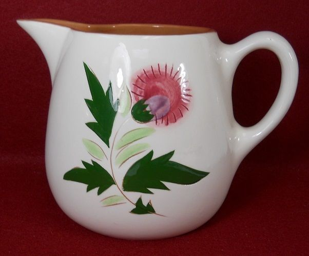STANGL china THISTLE pattern Pitcher 44-ounce - 5-3/8  # & STANGL china THISTLE pattern Pitcher 44-ounce - 5-3/8