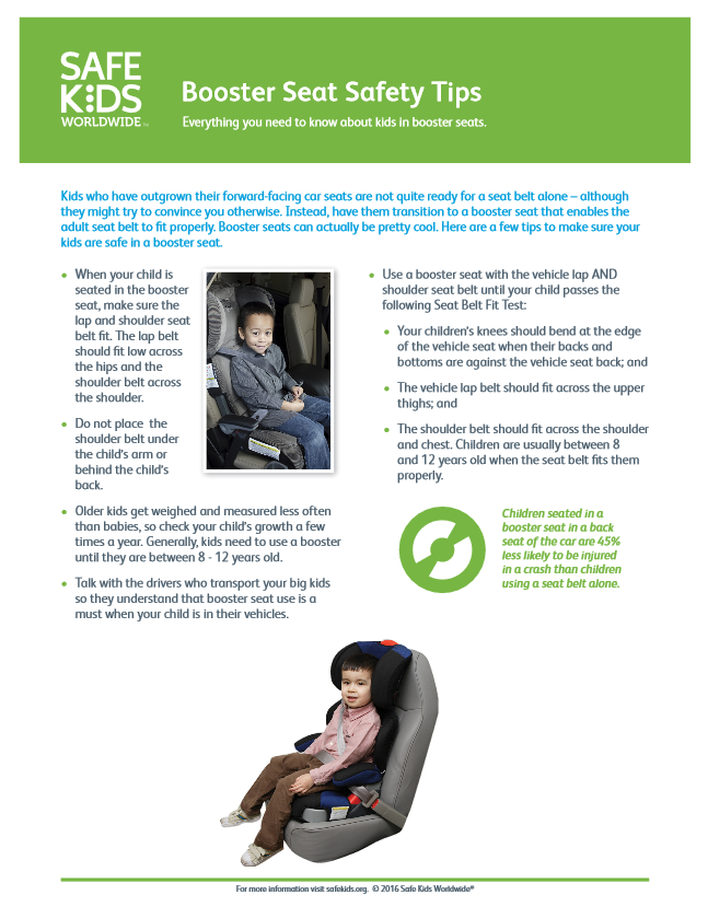 Everything You Need To Know About Kids In Booster Seats Safe Kids