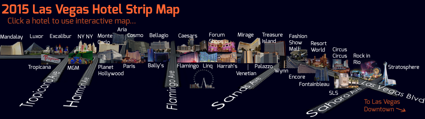 Plan your stay in Las Vegas with the help of our 2015 interactive
