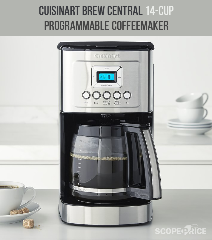 Scope The Right Price For Your Cuisinart Cbc 6400pc Brew Central 14 Cup Programmable Coffeemaker Stainless Steefrom Scopeprice Coffee Maker Cuisinart Brewing