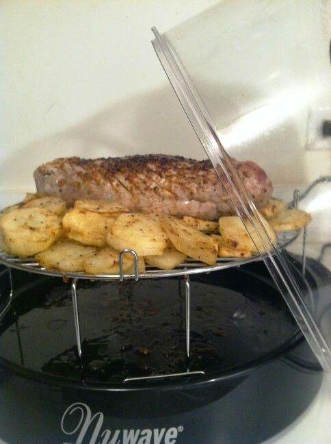Pork Tenderloin And Potatoes In The Nuwave Oven Delicious 1 2 3 Pound Fresh Pork Tender