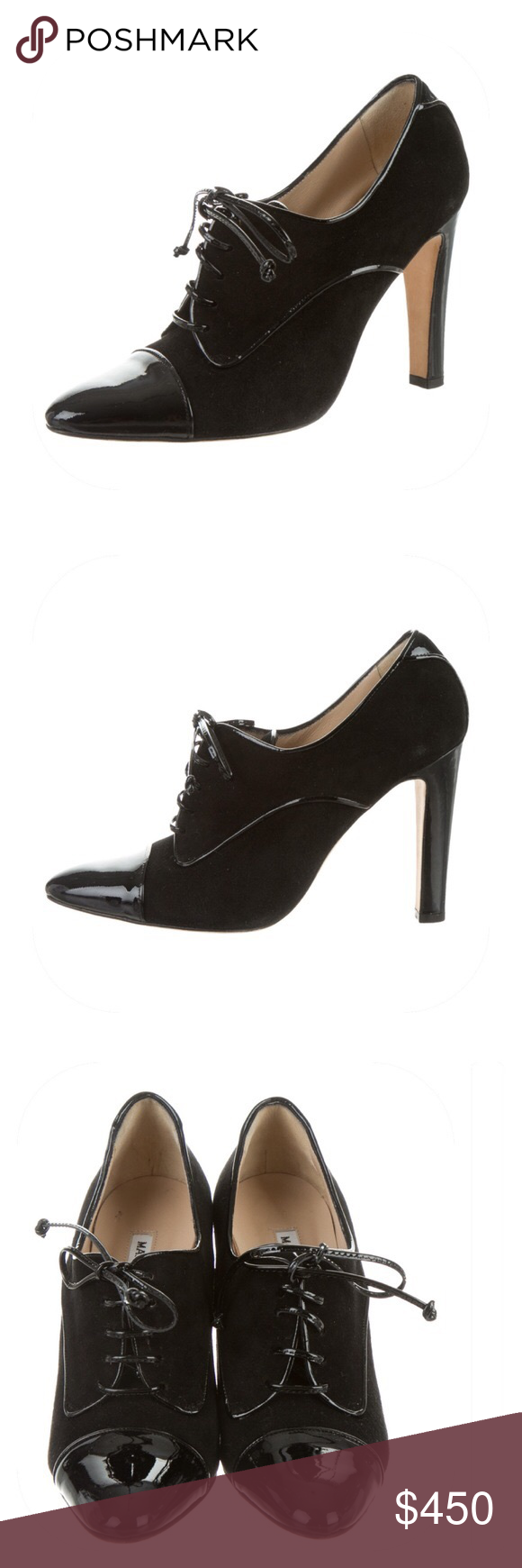 outlet affordable Manolo Blahnik Cap-Toe Leather Booties clearance cheapest price 3Is3RnV73