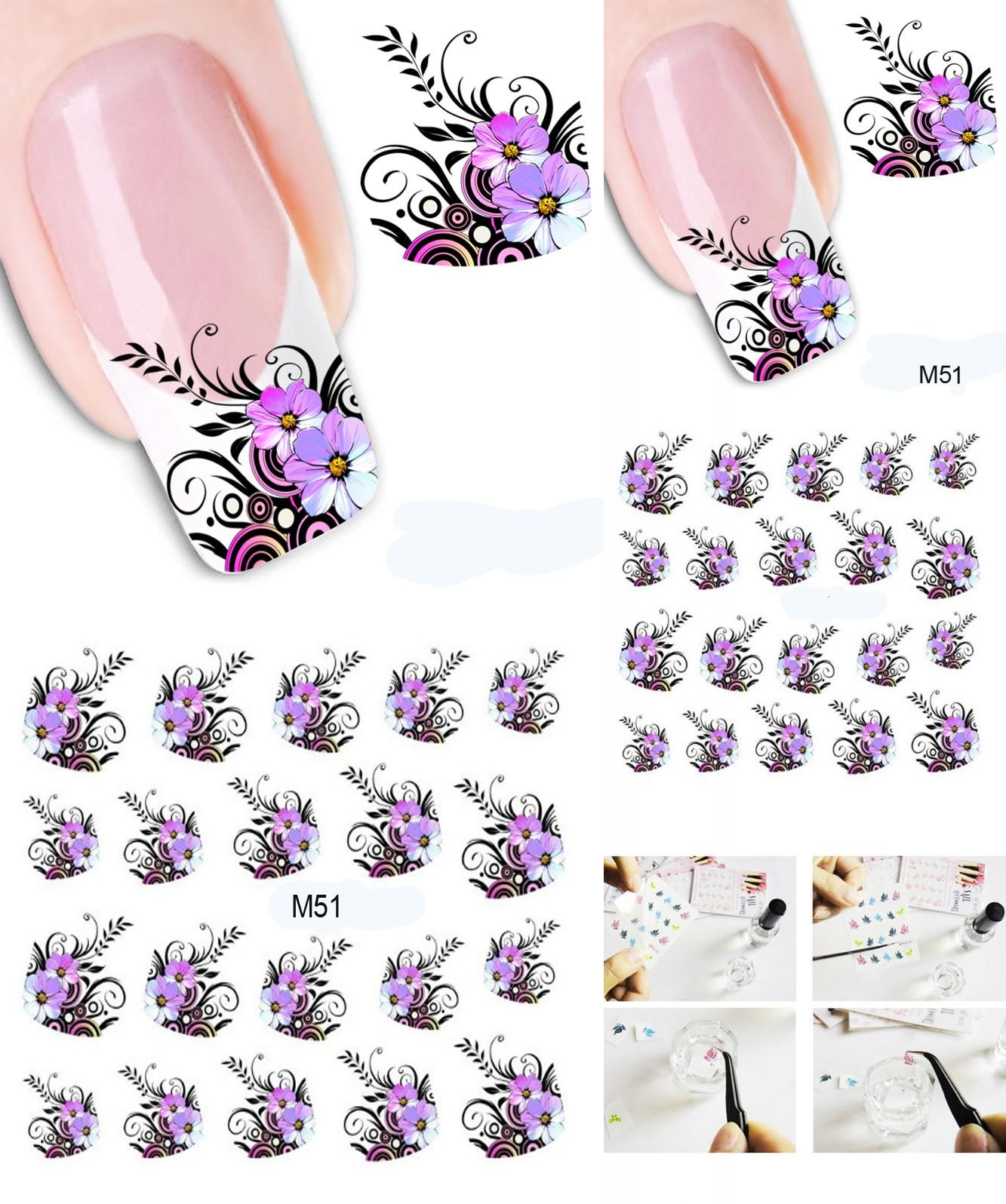 Visit To Buy 1pcs Beauty Nail Art Water Decals Transfer Stickers