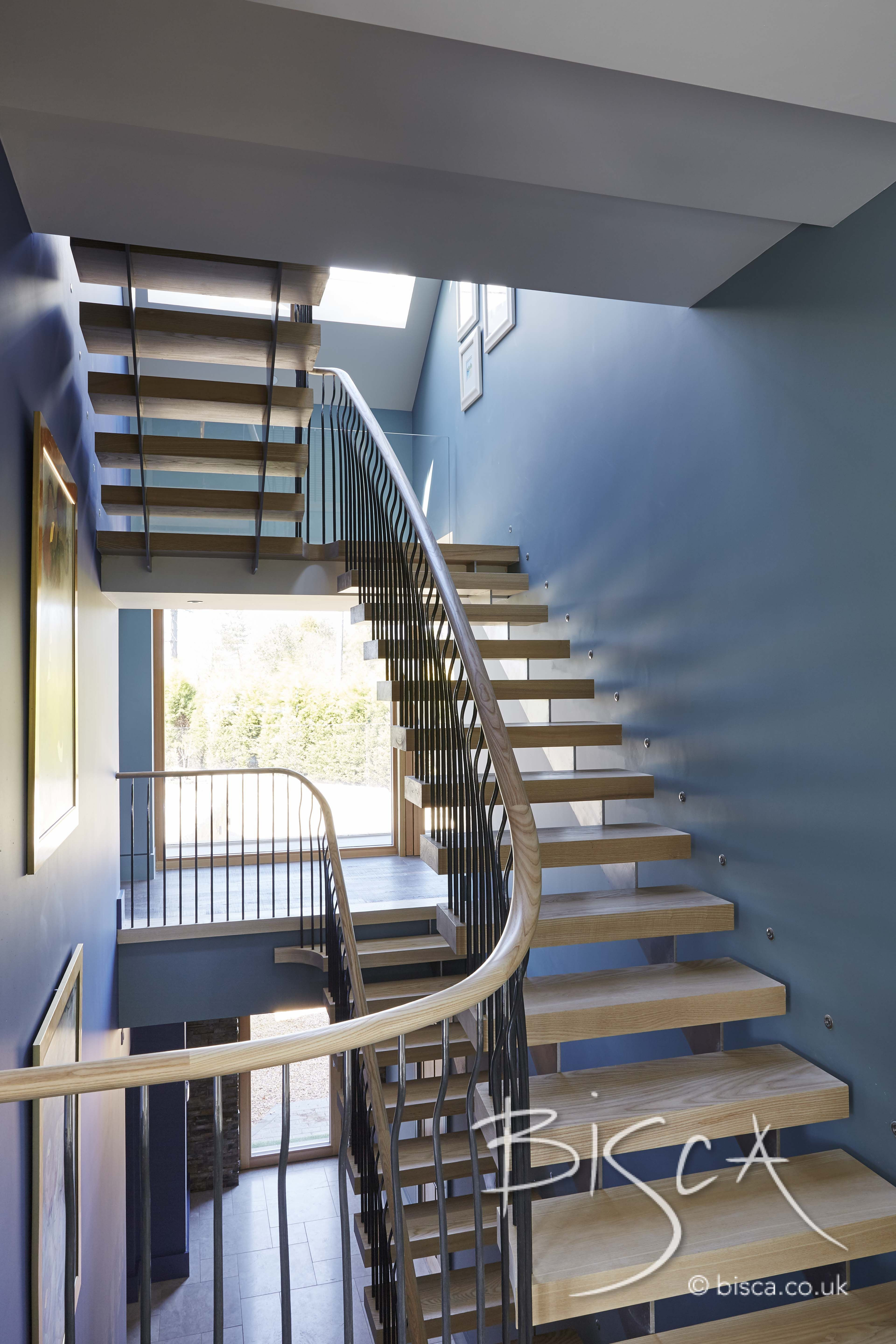 Double Height Multiflight Staircase Design By Bisca