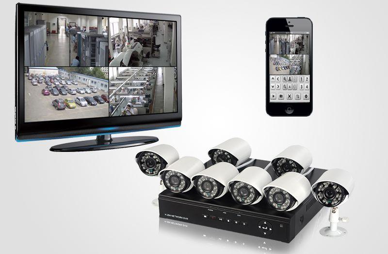 8 Camera CCTV DVR System - H 264 Mobile Surveillance, With Internet