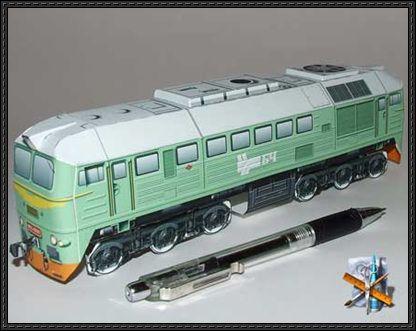 Diesel Locomotive M62 Free Train Paper Model Download